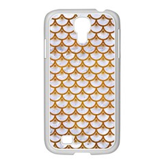 Scales3 White Marble & Yellow Grunge (r) Samsung Galaxy S4 I9500/ I9505 Case (white) by trendistuff