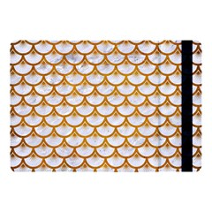 Scales3 White Marble & Yellow Grunge (r) Apple Ipad Pro 10 5   Flip Case by trendistuff