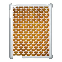 Scales3 White Marble & Yellow Grunge Apple Ipad 3/4 Case (white) by trendistuff