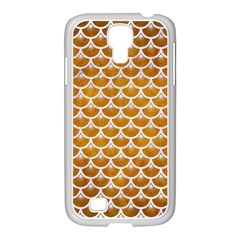 Scales3 White Marble & Yellow Grunge Samsung Galaxy S4 I9500/ I9505 Case (white) by trendistuff