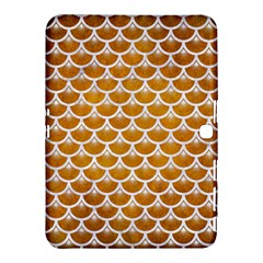 Scales3 White Marble & Yellow Grunge Samsung Galaxy Tab 4 (10 1 ) Hardshell Case  by trendistuff