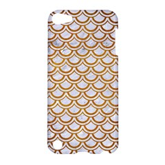Scales2 White Marble & Yellow Grunge (r) Apple Ipod Touch 5 Hardshell Case by trendistuff
