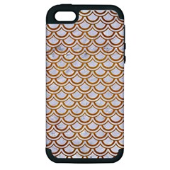 Scales2 White Marble & Yellow Grunge (r) Apple Iphone 5 Hardshell Case (pc+silicone) by trendistuff