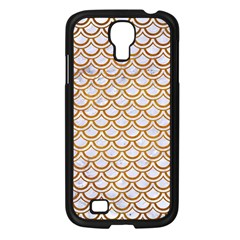 Scales2 White Marble & Yellow Grunge (r) Samsung Galaxy S4 I9500/ I9505 Case (black) by trendistuff