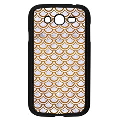 Scales2 White Marble & Yellow Grunge (r) Samsung Galaxy Grand Duos I9082 Case (black) by trendistuff