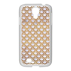 Scales2 White Marble & Yellow Grunge (r) Samsung Galaxy S4 I9500/ I9505 Case (white) by trendistuff