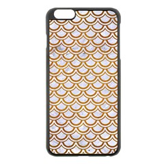 Scales2 White Marble & Yellow Grunge (r) Apple Iphone 6 Plus/6s Plus Black Enamel Case by trendistuff