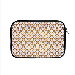 Scales2 White Marble & Yellow Grunge (r) Apple Macbook Pro 15  Zipper Case by trendistuff