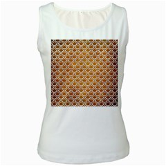 Scales2 White Marble & Yellow Grunge Women s White Tank Top by trendistuff