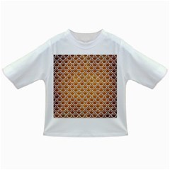 SCALES2 WHITE MARBLE & YELLOW GRUNGE Infant/Toddler T-Shirts