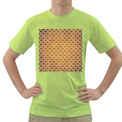 SCALES2 WHITE MARBLE & YELLOW GRUNGE Green T-Shirt