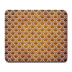 SCALES2 WHITE MARBLE & YELLOW GRUNGE Large Mousepads
