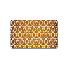 SCALES2 WHITE MARBLE & YELLOW GRUNGE Magnet (Name Card)