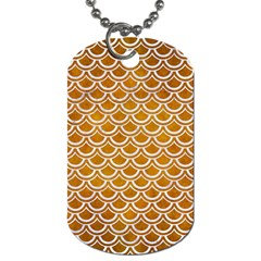 SCALES2 WHITE MARBLE & YELLOW GRUNGE Dog Tag (Two Sides)