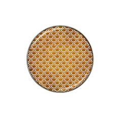 SCALES2 WHITE MARBLE & YELLOW GRUNGE Hat Clip Ball Marker