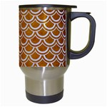 SCALES2 WHITE MARBLE & YELLOW GRUNGE Travel Mugs (White) Right