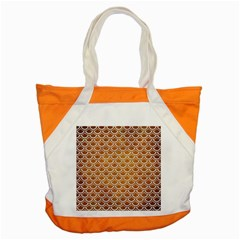 SCALES2 WHITE MARBLE & YELLOW GRUNGE Accent Tote Bag