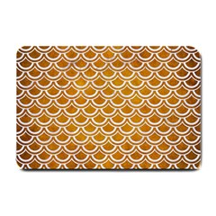 SCALES2 WHITE MARBLE & YELLOW GRUNGE Small Doormat