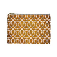 SCALES2 WHITE MARBLE & YELLOW GRUNGE Cosmetic Bag (Large)