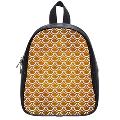 SCALES2 WHITE MARBLE & YELLOW GRUNGE School Bag (Small)