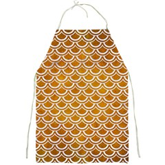 SCALES2 WHITE MARBLE & YELLOW GRUNGE Full Print Aprons