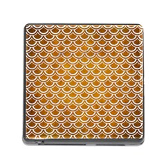 SCALES2 WHITE MARBLE & YELLOW GRUNGE Memory Card Reader (Square)