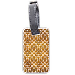 SCALES2 WHITE MARBLE & YELLOW GRUNGE Luggage Tags (One Side)