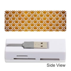 SCALES2 WHITE MARBLE & YELLOW GRUNGE Memory Card Reader (Stick)