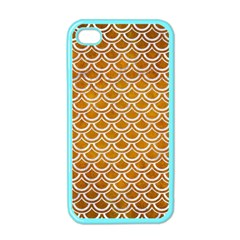 SCALES2 WHITE MARBLE & YELLOW GRUNGE Apple iPhone 4 Case (Color)