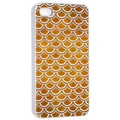 SCALES2 WHITE MARBLE & YELLOW GRUNGE Apple iPhone 4/4s Seamless Case (White)