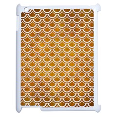 SCALES2 WHITE MARBLE & YELLOW GRUNGE Apple iPad 2 Case (White)