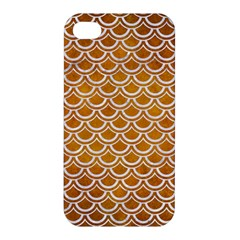 SCALES2 WHITE MARBLE & YELLOW GRUNGE Apple iPhone 4/4S Hardshell Case