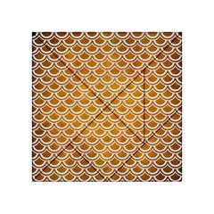 SCALES2 WHITE MARBLE & YELLOW GRUNGE Acrylic Tangram Puzzle (4  x 4 )