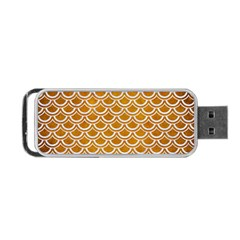SCALES2 WHITE MARBLE & YELLOW GRUNGE Portable USB Flash (One Side)