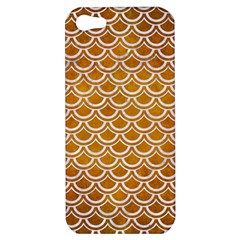 Scales2 White Marble & Yellow Grunge Apple Iphone 5 Hardshell Case by trendistuff