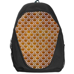 SCALES2 WHITE MARBLE & YELLOW GRUNGE Backpack Bag