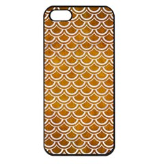 SCALES2 WHITE MARBLE & YELLOW GRUNGE Apple iPhone 5 Seamless Case (Black)