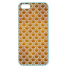 SCALES2 WHITE MARBLE & YELLOW GRUNGE Apple Seamless iPhone 5 Case (Color)