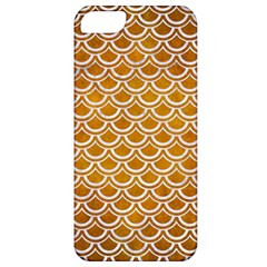 SCALES2 WHITE MARBLE & YELLOW GRUNGE Apple iPhone 5 Classic Hardshell Case