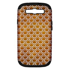 SCALES2 WHITE MARBLE & YELLOW GRUNGE Samsung Galaxy S III Hardshell Case (PC+Silicone)