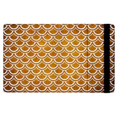 SCALES2 WHITE MARBLE & YELLOW GRUNGE Apple iPad 3/4 Flip Case