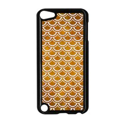 SCALES2 WHITE MARBLE & YELLOW GRUNGE Apple iPod Touch 5 Case (Black)