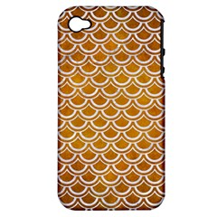 SCALES2 WHITE MARBLE & YELLOW GRUNGE Apple iPhone 4/4S Hardshell Case (PC+Silicone)