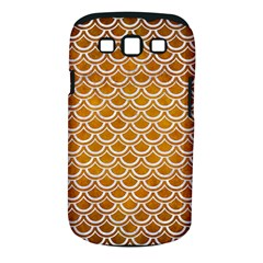 SCALES2 WHITE MARBLE & YELLOW GRUNGE Samsung Galaxy S III Classic Hardshell Case (PC+Silicone)