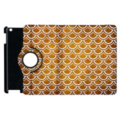 SCALES2 WHITE MARBLE & YELLOW GRUNGE Apple iPad 3/4 Flip 360 Case