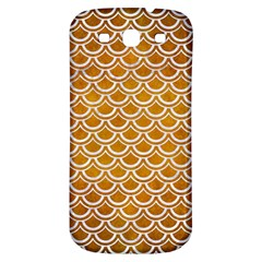 SCALES2 WHITE MARBLE & YELLOW GRUNGE Samsung Galaxy S3 S III Classic Hardshell Back Case