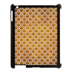 SCALES2 WHITE MARBLE & YELLOW GRUNGE Apple iPad 3/4 Case (Black)