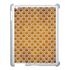 SCALES2 WHITE MARBLE & YELLOW GRUNGE Apple iPad 3/4 Case (White)
