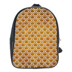 SCALES2 WHITE MARBLE & YELLOW GRUNGE School Bag (XL)