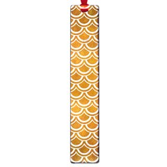 SCALES2 WHITE MARBLE & YELLOW GRUNGE Large Book Marks